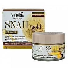 Kup Krem na dzień z ekstraktem ze śluzu ślimaka - Victoria Beauty Snail Gold Argan Oil Day Cream