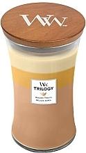 Kup Świeca zapachowa w szkle - Woodwick Hourglass Candle Trilogy Golden Treats