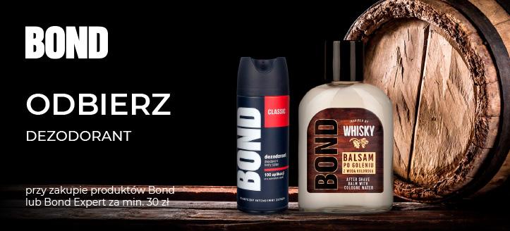 Przy zakupie produktów Bond lub Bond Expert za min. 30 zł, dezodorant otrzymasz w prezencie.