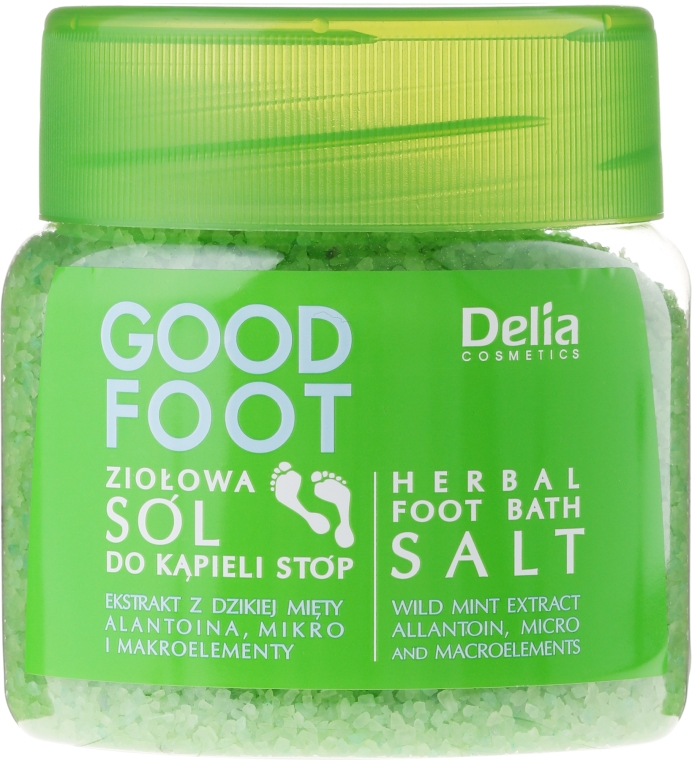 Ziołowa sól do kąpieli stóp - Delia Cosmetics Good Foot