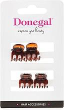 Kup Spinki do włosów FA-5819, brązowe, 4 szt. - Donegal Hair Clip
