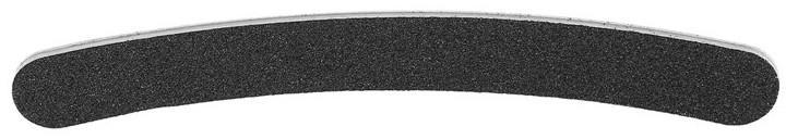 Pilnik do paznokci banan, 100/180, czarny - Tools For Beauty Nail File Banana Black — фото N1
