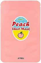 Kup Maseczka na tkaninie do twarzy z wyciągiem z brzoskwini i jogurtu - A'Pieu Peach & Yogurt Sheet Mask