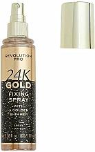 Kup Utrwalacz do makijażu - Revolution Pro 24K Gold Fixing Spray