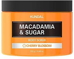Kup Peeling do ciała Kwiaty wiśni - Kundal Macadamia&Sugar Body Scrub Cherry Blossom