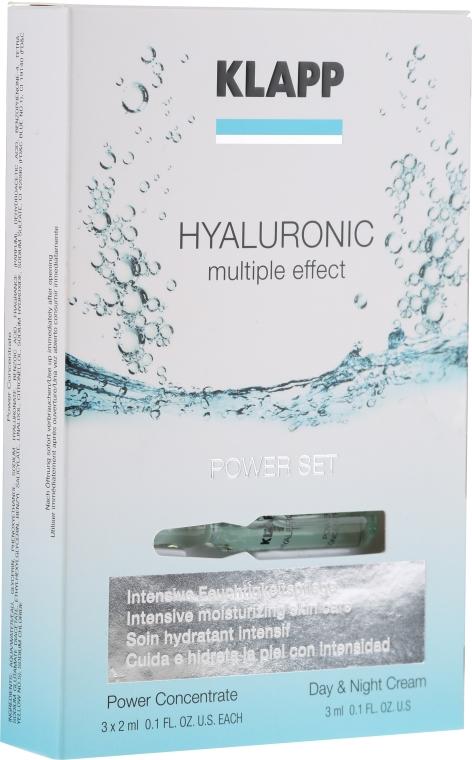 Zestaw hialuronowy - Klapp Hyaluronic Power Set (conc/3x2ml + cr/3ml) — фото N1