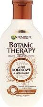 Szampon odżywiający i nadający sprężystość włosom suchym Mleko kokosowe i olej makadamia - Garnier Botanic Therapy Coconut Milk & Macadamia Shampoo — фото N4