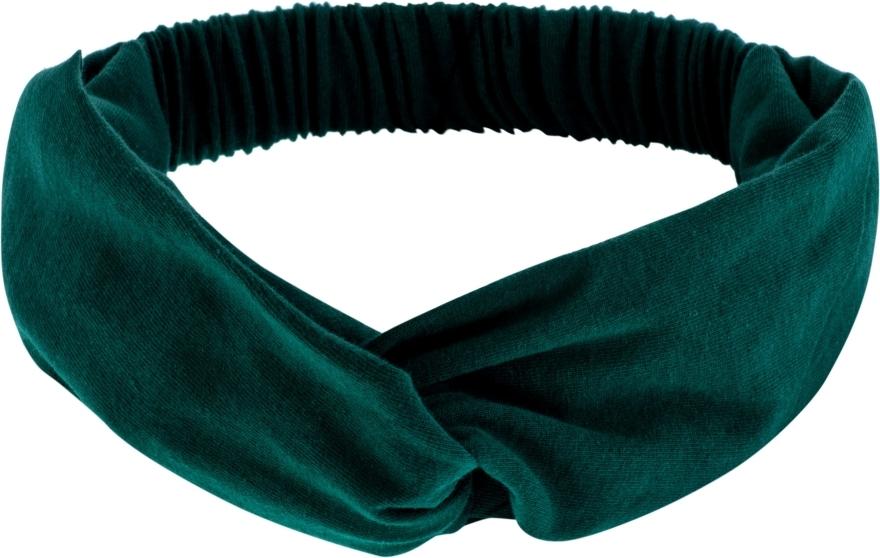 Szmaragdowa opaska na głowę Knit Twist - Makeup