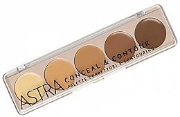 Kup Paleta korektorów do twarzy - Astra Make-up Palette Conceal&Contour Palette