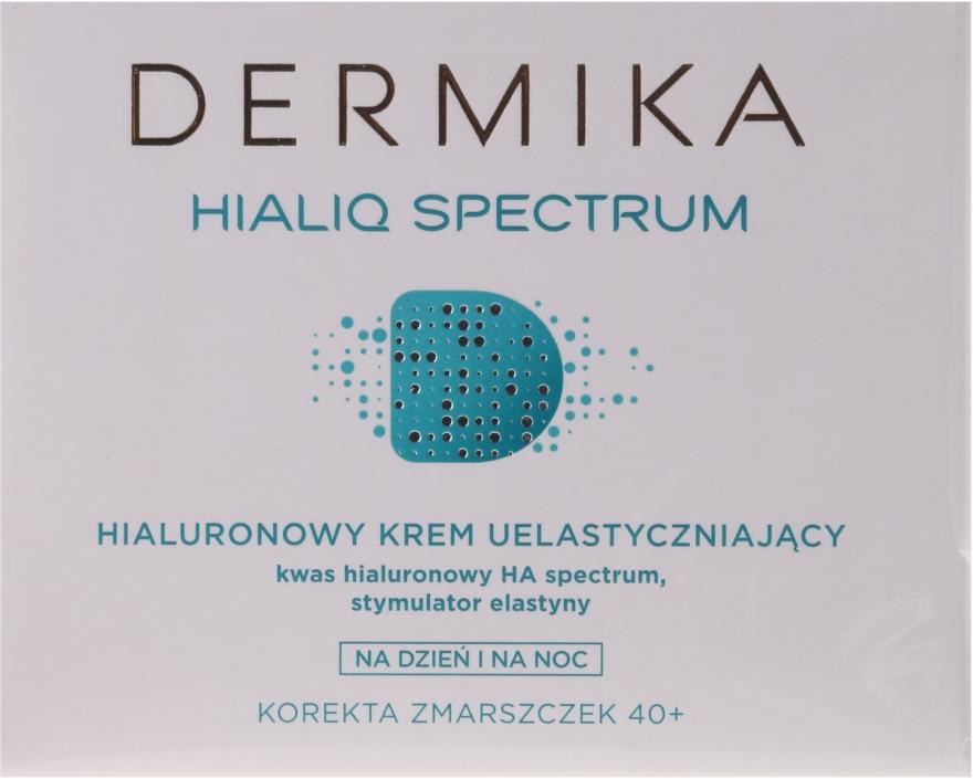 Hialuronowy krem uelastyczniający na dzień i na noc Korekta zmarszczek 40+ - Dermika Hialiq Spectrum — фото N1