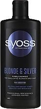 Kup Szampon do włosów jasnych, rozjaśnianych i siwych - Syoss Blond & Silver Purple Shampoo For Highlighted, Blonde & Grey Hair