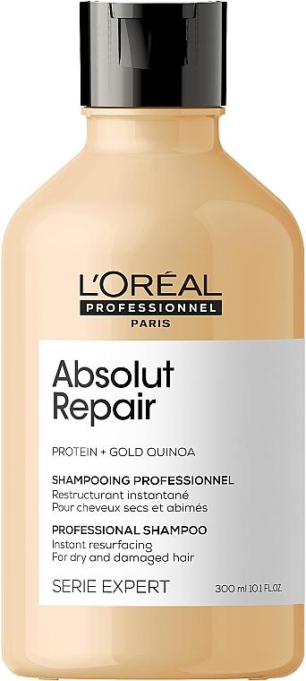 Naprawczy szampon do włosów zniszczonych z komosą i proteinami - L'Oreal Professionnel Serie Expert Absolut Repair Gold Quinoa + Protein Shampoo