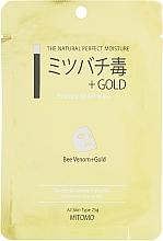 Kup Maska w płachcie ze złotem i jadem pszczelim - Mitomo Essence Sheet Mask Bee Venom + Gold