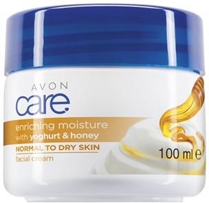 Rewitalizujący krem do twarzy do cery suchej i normalnej z miodem i jogurtem - Avon Care Enriching Moisture With Yoghurt & Honey — фото N1