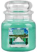 Kup Świeca zapachowa w słoiku z dwoma knotami - Country Candle Citrus & Seagrass