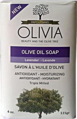 Mydło z oliwek w kostce Lawenda - Olivia Beauty & The Olive Tree Olive Oil Soap Lavender — фото N1