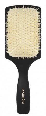 Szczotka do włosów z naturalnego włosia, prostokątna - Kashoki