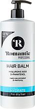 Kup PRZECENA! Balsam do włosów suchych z kwasem hialuronowym i D-panthenolem - Romantic Professional Hydrate Hair Balm *