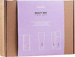 Kup Zestaw - Resibo Fresh Skin (accessories/1pcs + gel/125ml + cr/50ml)