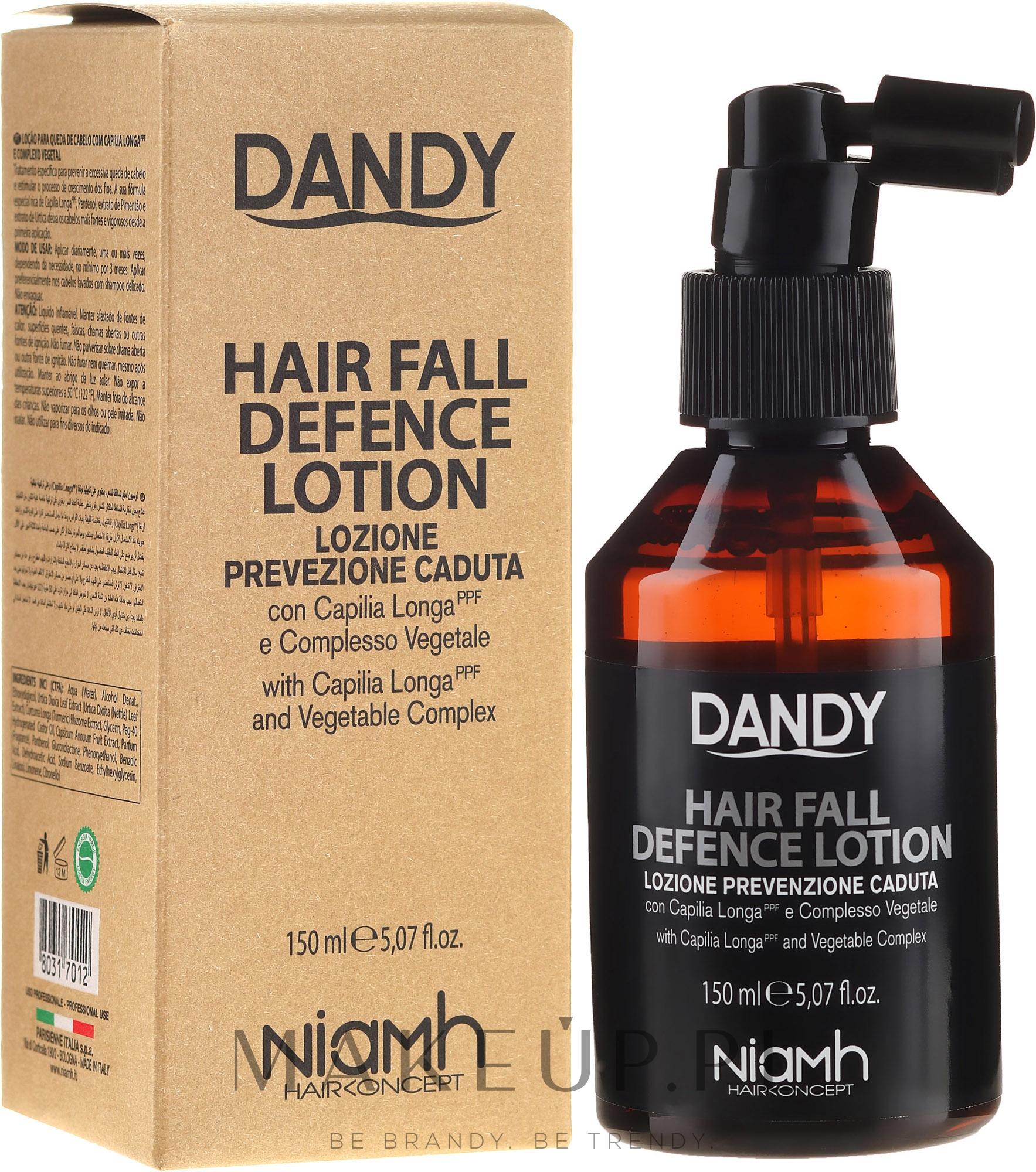 Ochronny lotion przeciw wypadaniu włosów dla mężczyzn - Niamh Hairconcept Dandy Hair Fall Defence Lotion — фото 150 ml