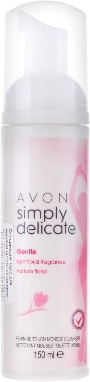 Delikatna pianka do higieny intymnej - Avon Simply Delicate Gentle Feminine Touch Mousse Cleanser — фото N1