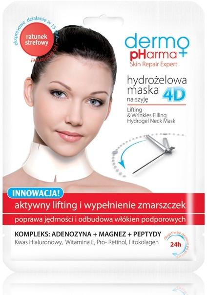 Hydrożelowa maska 4D na szyję Aktywny lifting i wypełnienie zmarszczek - Dermo Pharma