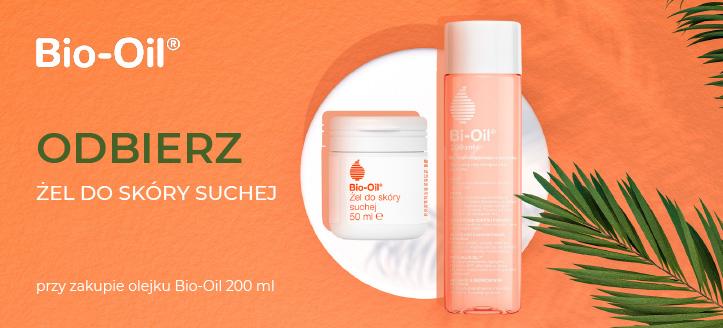 Przy zakupie olejku Bio-Oil 200 ml, żel do skóry suchej 50 ml otrzymasz w prezencie.