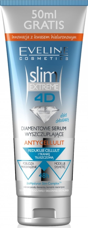 Diamentowe antycellulitowe serum wyszczuplające - Eveline Cosmetics Slim Extreme 4D Anti-Cellulite Diamond Slimming Serum
