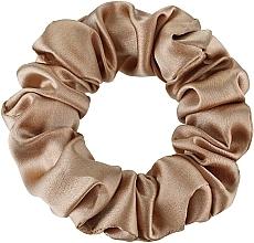 Kup Gumka-scrunchie do włosów z naturalnego jedwabiu, złota Midi - Makeup