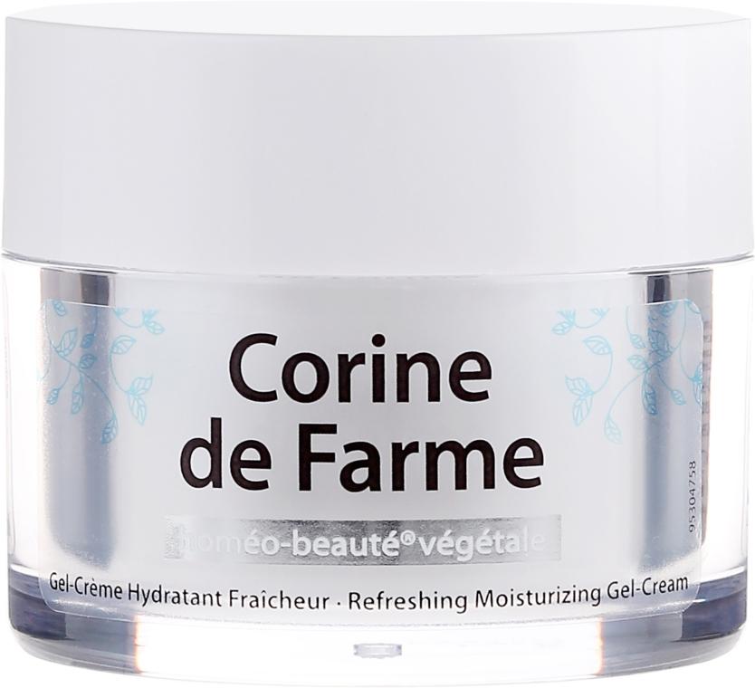 Odświeżający nawilżający żel-krem do skóry normalnej i mieszanej - Corine de Farme — фото N2