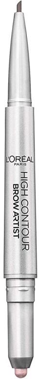 Kredka i rozświetlacz 2 w 1 do brwi - L'Oreal Paris High Contour Brow Pencil & Highlighter Duo — фото N3