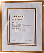 Kup Hydrożelowa maska z ekstraktem ze śluzu ślimaka - Missha Super Aqua Cell Renew Snail Hydro Gel Mask