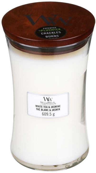 Świeca zapachowa w szkle - WoodWick Hourglass Candle White Tea & Jasmine — фото N3