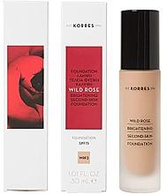 Kup Rozjaśniający podkład do twarzy SPF 15 - Korres Wild Rose Brightening Second Skin Foundation