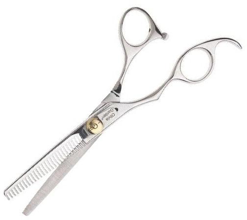 Nożyczki fryzjerskie do włosów dla leworęcznych - Olivia Garden SilkCut 635 — фото N1