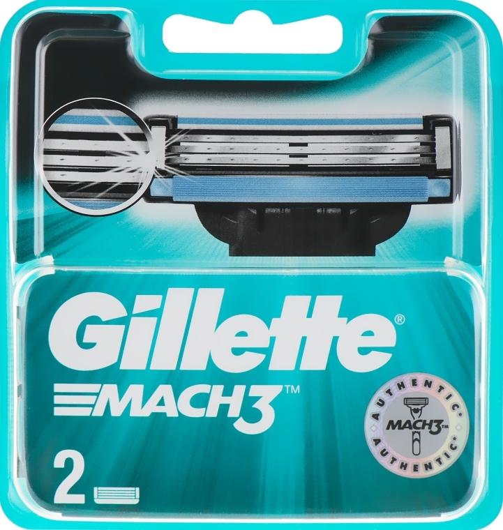 Wymienne wkłady do maszynki, 2 szt. - Gillette Mach3