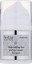 Kup Nawilżający krem do twarzy i pod oczy dla mężczyzn - Sostar Moisturizing Face & Eye Cream For Men