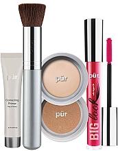 Kup Zestaw - Pur Minerals Best Sellers Starter Kit Light (primer/10ml+found/4.3g+bronzer/3.4g+mascara/5g+brush)