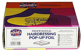 Kup Folia fryzjerska ryflowana POP-UP, 300 szt - Ronney Professional Hairdressing Pop-Up Foil