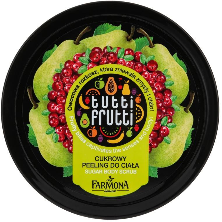 Cukrowy peeling do ciała Gruszka i żurawina - Farmona Tutti Frutti