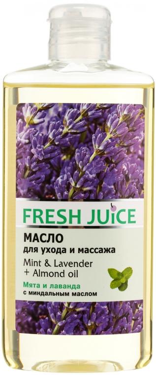 Olejek do pielęgnacji i masażu ciała Mięta, lawenda i olej arganowy - Fresh Juice Energy Mint&Lavender+Almond Oil