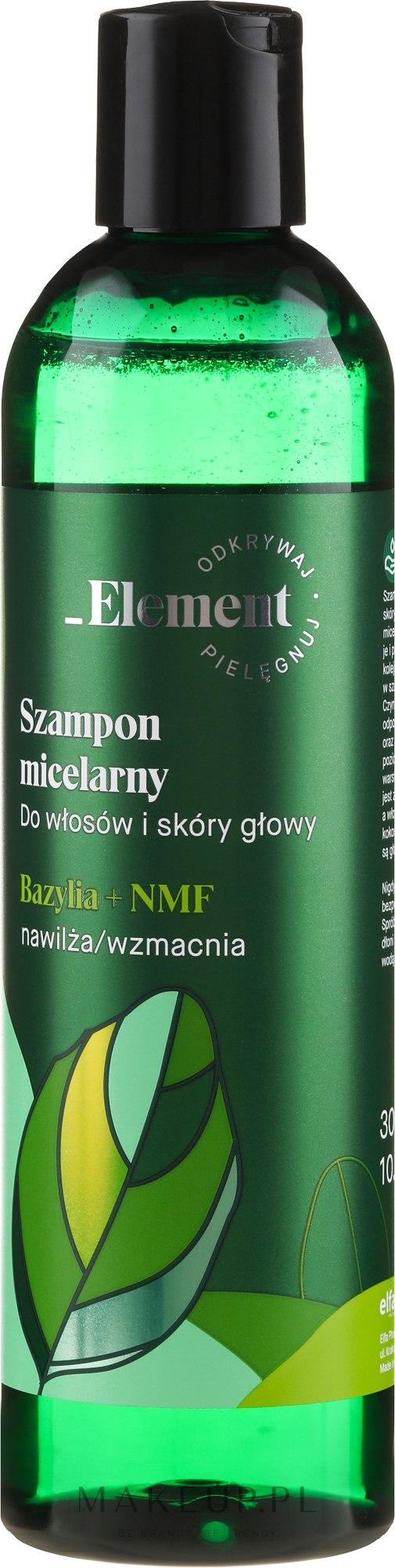 Wzmacniający szampon przeciw wypadaniu włosów Ekstrakt z bazylii + NMF - _Element Basil — фото 300 ml