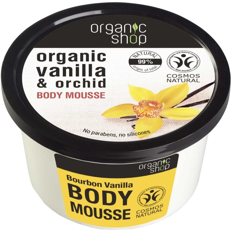Mus do ciała Wanilia i orchidea - Organic Shop Body Mousse Organic Vanilla & Orchid