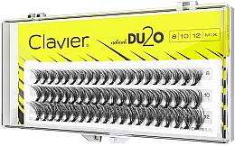 Kup Kępki sztucznych rzęs, 8 mm, 10 mm, 12 mm - Clavier DU2O Double Volume MIX