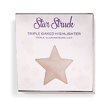 Wypiekany rozświetlacz do twarzy - Makeup Revolution I Heart Revolution Star of the Show Highlighter — фото N1