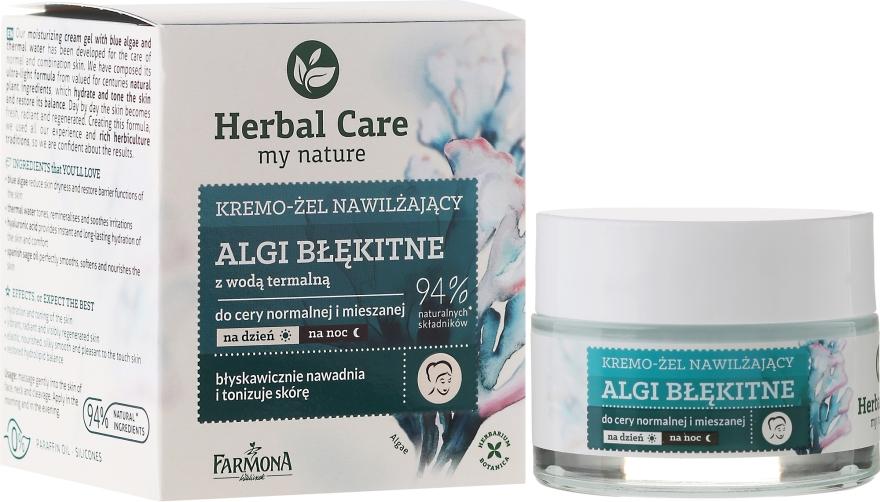 Krem-żel nawilżający Algi błękitne z wodą termalną - Farmona Herbal Care