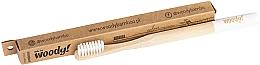 Kup Bambusowa szczoteczka do zębów, średnie białe włosie - WoodyBamboo Bamboo Toothbrush