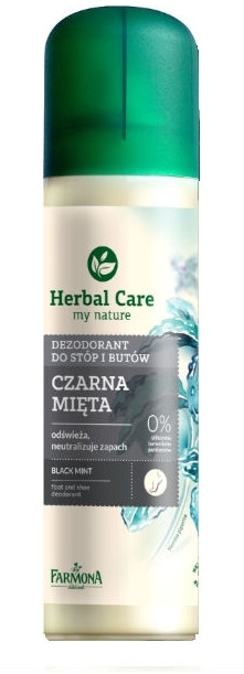 Dezodorant do stóp i butów Czarna mięta - Farmona Herbal Care