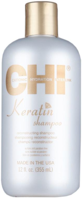 Szampon keratynowy odbudowujący włosy - CHI Keratin Reconstructing Shampoo