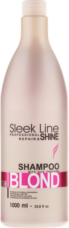 Szampon do włosów blond nadający różowy odcień - Stapiz Sleek Line Blush Blond Shampoo